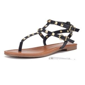 Candies strappy studded sandals size 8